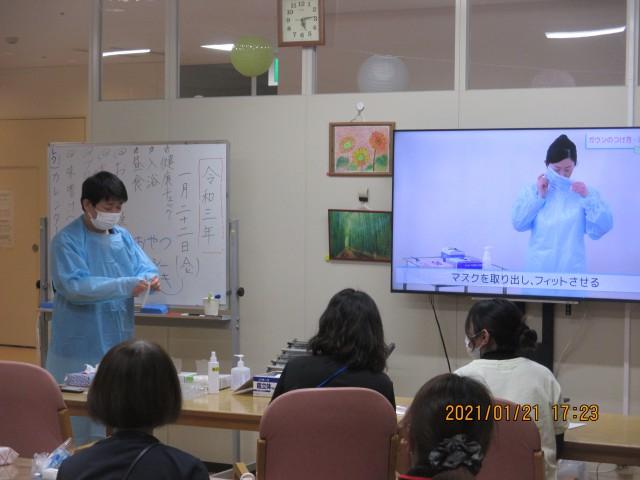 桜英水苑『感染対策の勉強会をおこないました。』